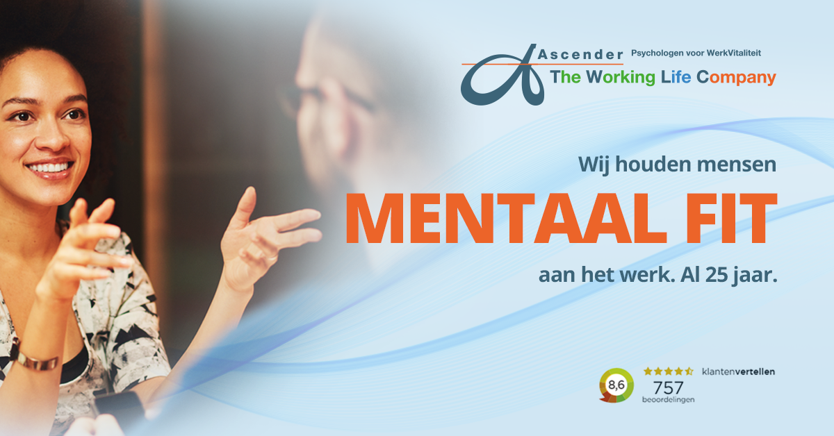 Facebook post Ascender The Working Life Company - Psychologen voor WerkVitaliteit